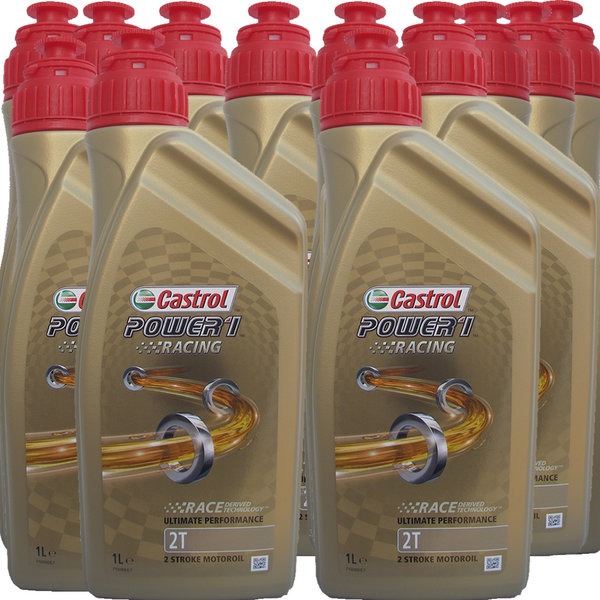 Motorradöl Castrol 2T Power1 Racing 12X1L