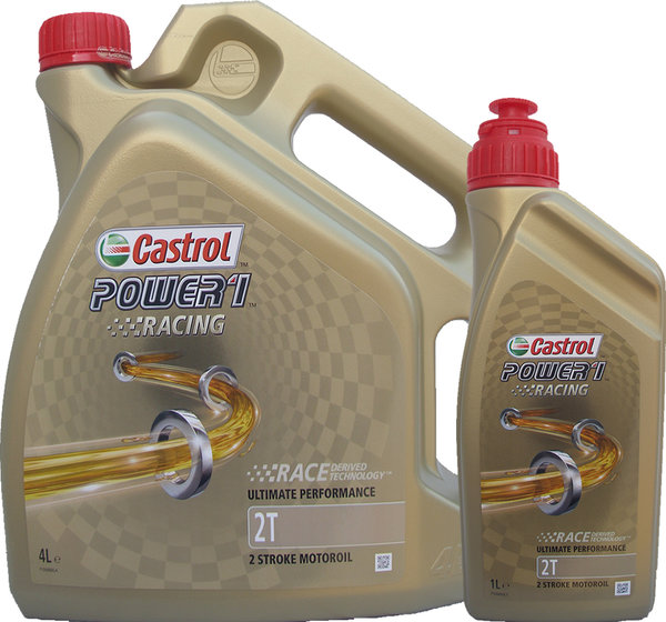 Motorradöl Castrol 2T Power1 Racing 4L+1L