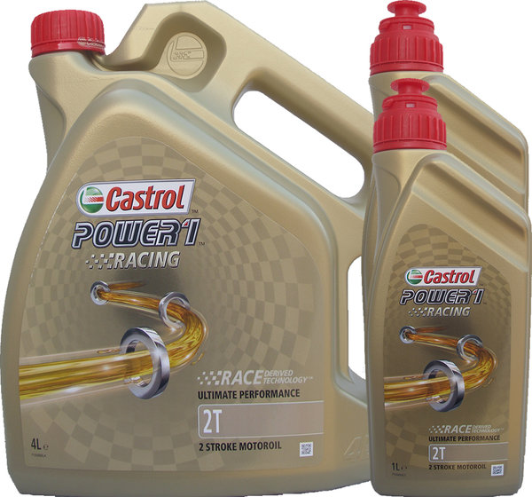 Motorradöl Castrol 2T Power1 Racing 4L+2L