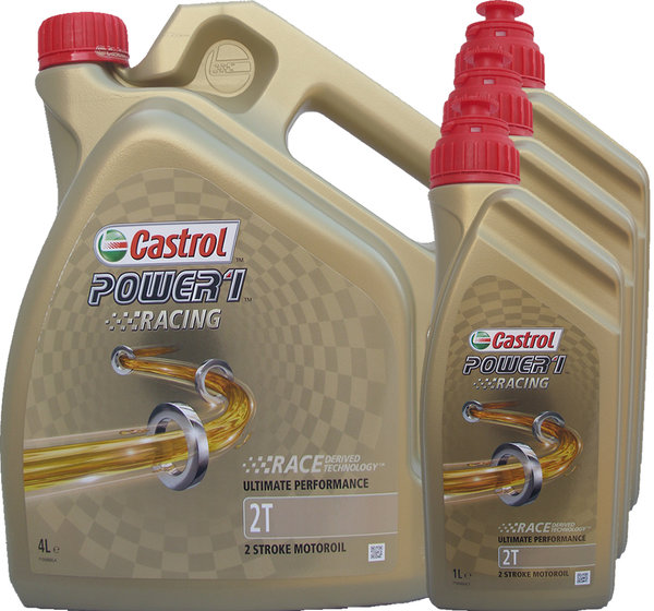 Motorradöl Castrol 2T Power1 Racing 4L+3L