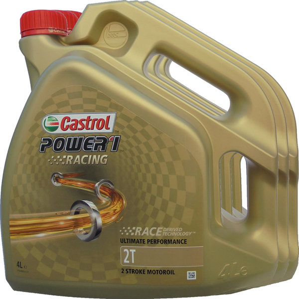 Motorradöl Castrol 2T Power1 Racing 3X4L