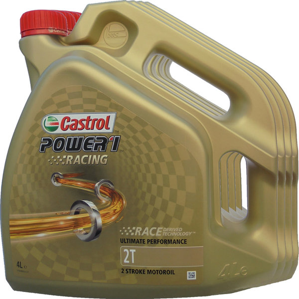 Motorradöl Castrol 2T Power1 Racing 4X4L