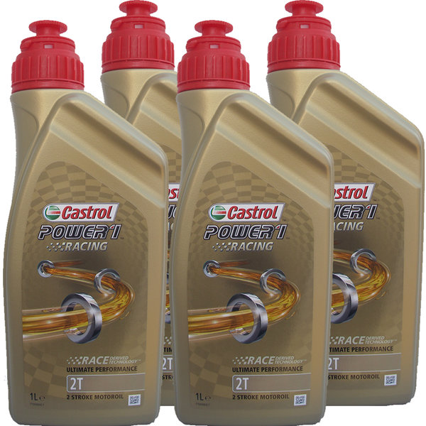 Motorradöl Castrol 2T Power1 Racing 4X1L