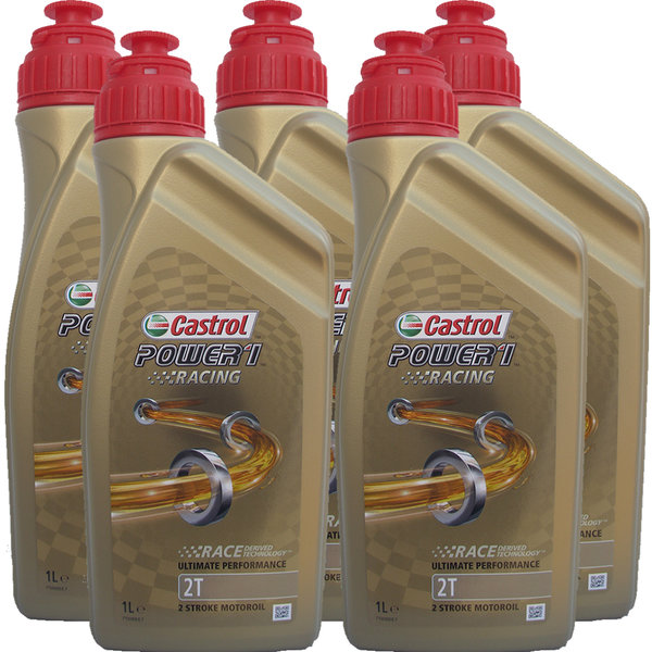 Motorradöl Castrol 2T Power1 Racing 5X1L