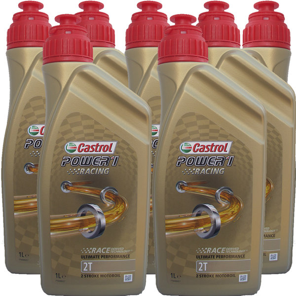 Motorradöl Castrol 2T Power1 Racing 7X1L