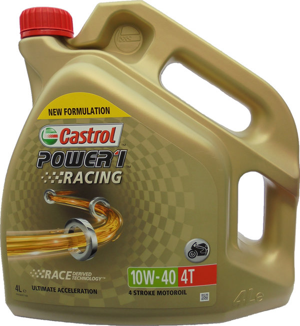 Motorradöl Castrol 10W-40 4T Power1 Racing 1X4L