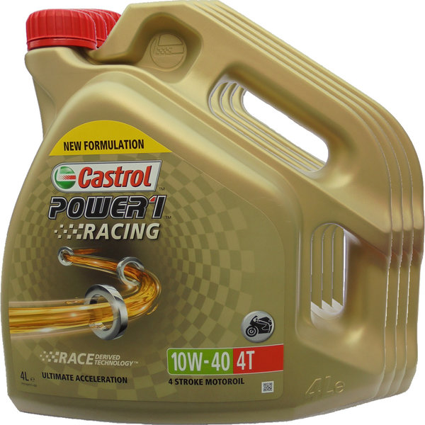 Motorradöl Castrol 10W-40 4T Power1 Racing 4X4L