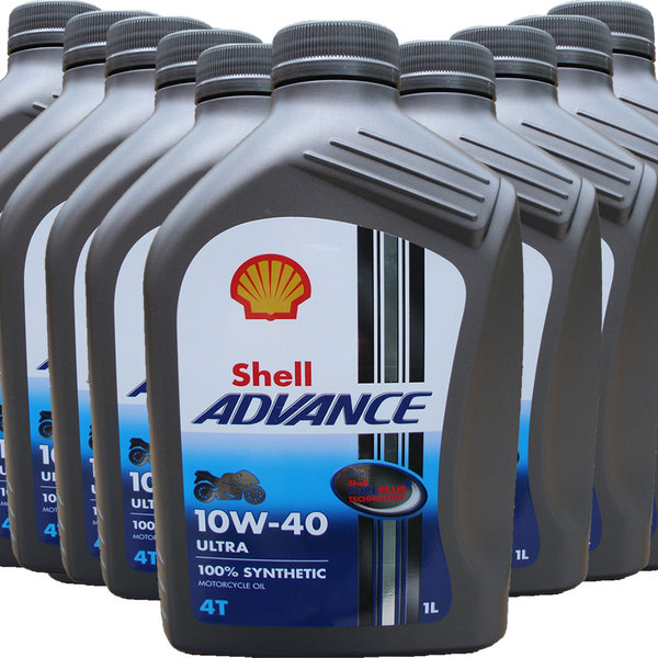 Motorradöl Shell 10W-40 ADVANCE 4T Ultra (10 X 1L)