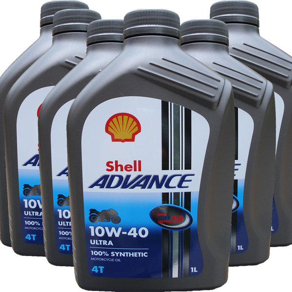 Motorradöl Shell 10W-40 ADVANCE 4T Ultra (6 X 1L)