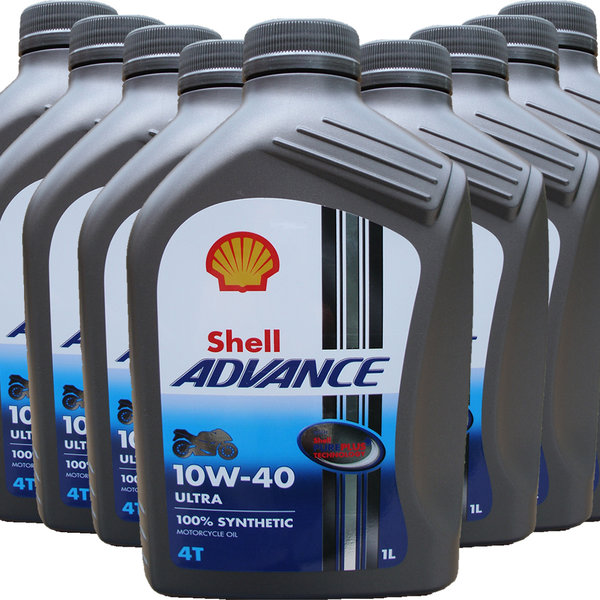 Motorradöl Shell 10W-40 ADVANCE 4T Ultra (9 X 1L)