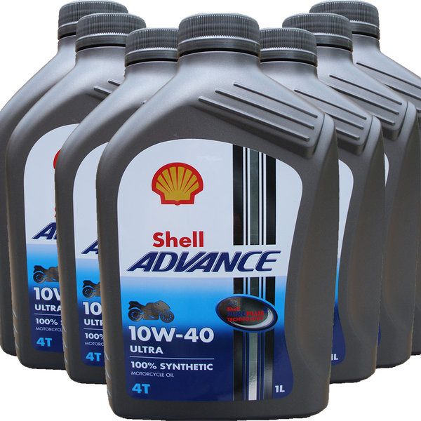 Motorradöl Shell 10W-40 ADVANCE 4T Ultra (7 X 1L)