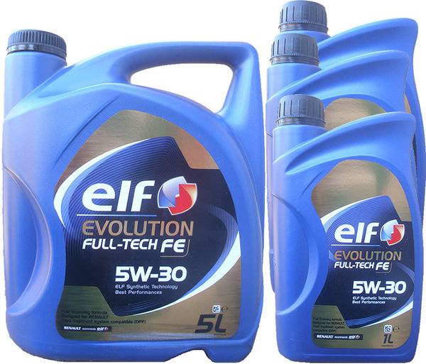 Motoröl ELF 5W-30 Evolution Full-Tech FE 5L+3L