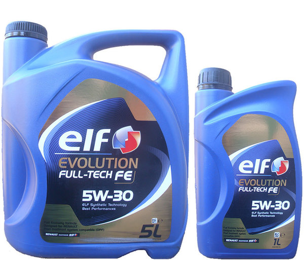Motoröl ELF 5W-30 Evolution Full-Tech FE 5L+1L