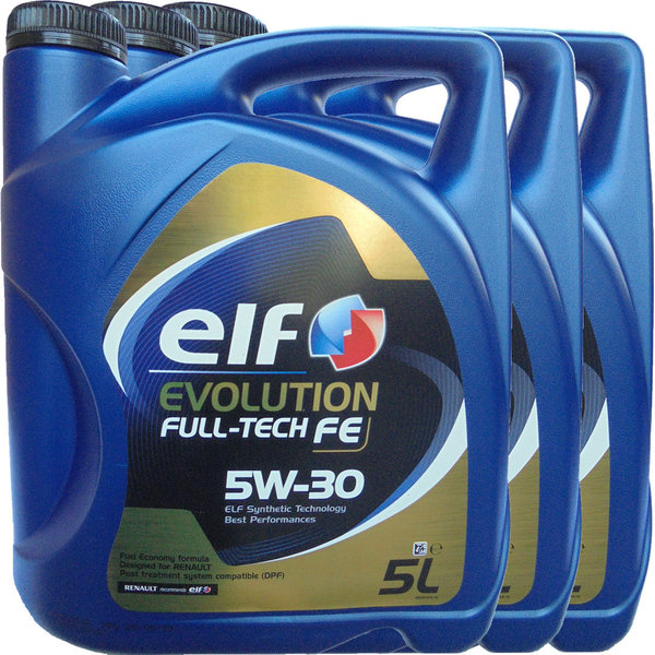 Motoröl ELF 5W-30 Evolution Full-Tech FE 3X5L