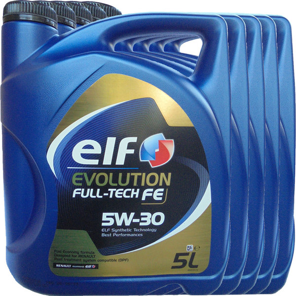 Motoröl ELF 5W-30 Evolution Full-Tech FE 5X5L
