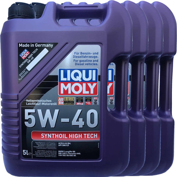 Motoröl Liqui Moly 5W-40 Synthoil High Tech 4X5L