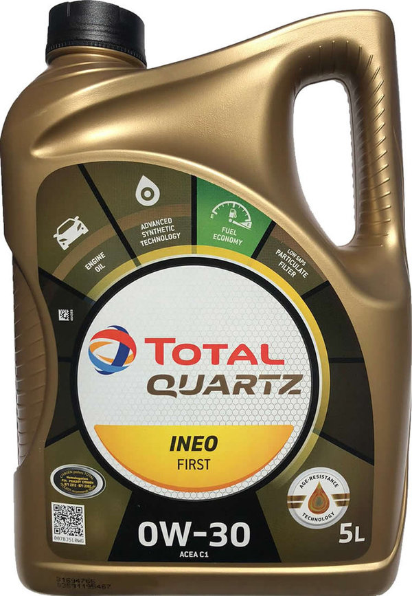 Motoröl Total 0W-30 Quartz Ineo First (1X5L)