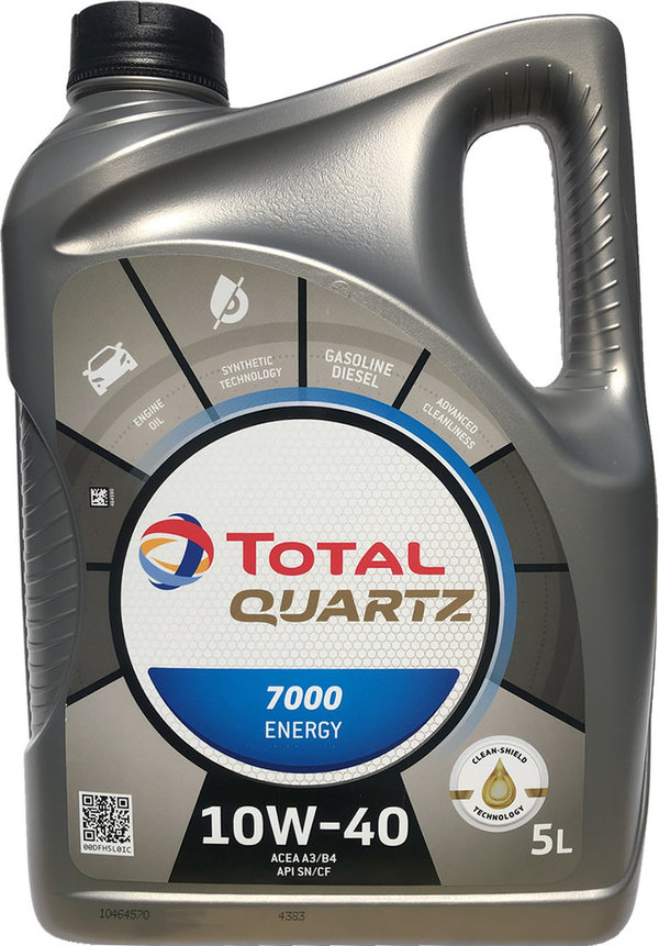 Motoröl Total 10W-40 Quartz 7000 Energy 1X5L