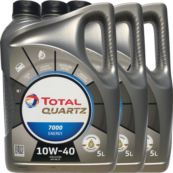 Motoröl Total 10W-40 Quartz 7000 Energy 3X5L