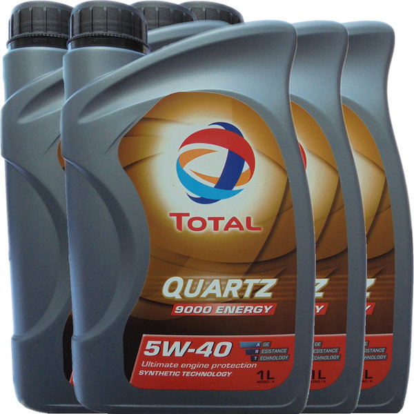 Motoröl Total 5W-40 Quartz 9000 Energy 4X1L