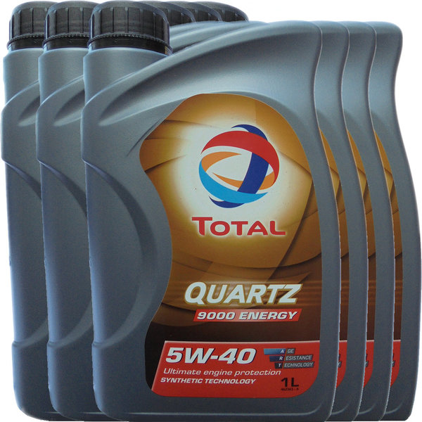 Motoröl Total 5W-40 Quartz 9000 Energy 6X1L