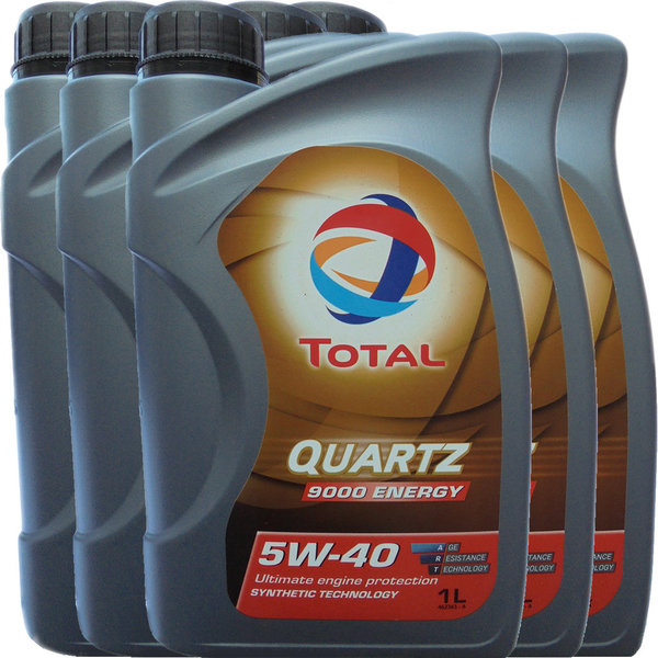 Motoröl Total 5W-40 Quartz 9000 Energy 5X1L