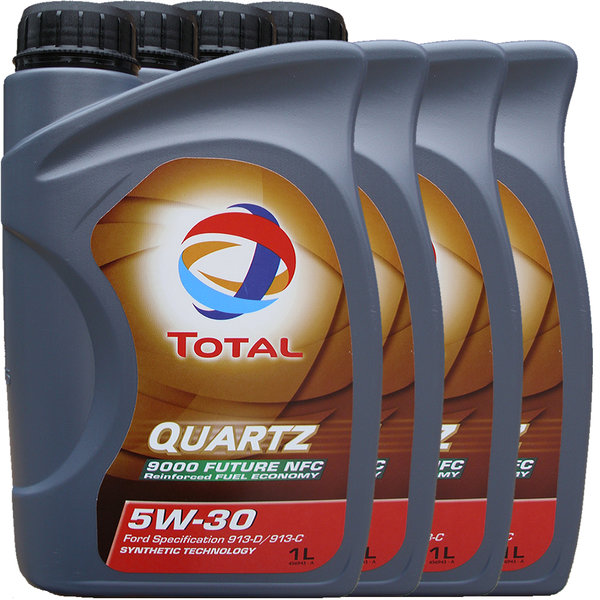 Motoröl Total 5W-30 Quartz 9000 Future NFC 4X1L