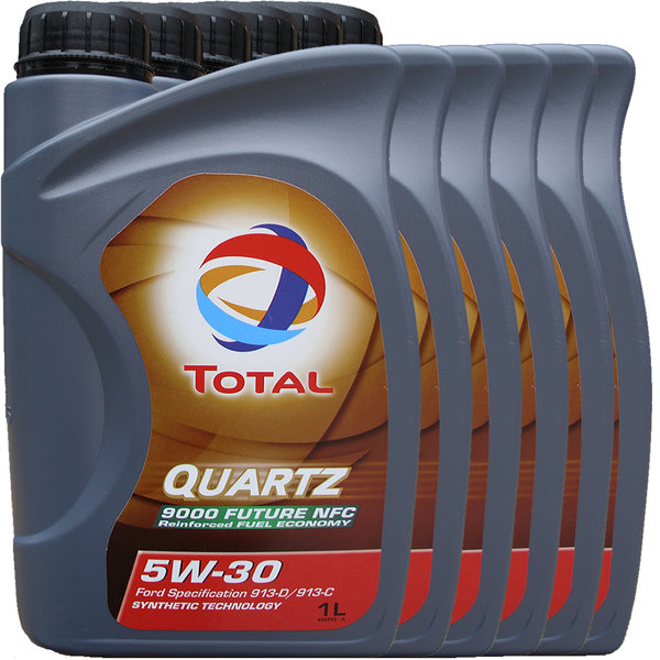 Motoröl Total 5W-30 Quartz 9000 Future NFC 6X1L