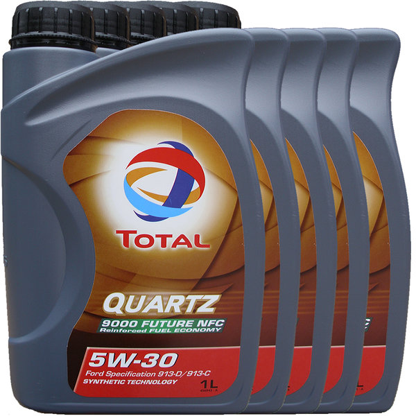 Motoröl Total 5W-30 Quartz 9000 Future NFC 5X1L