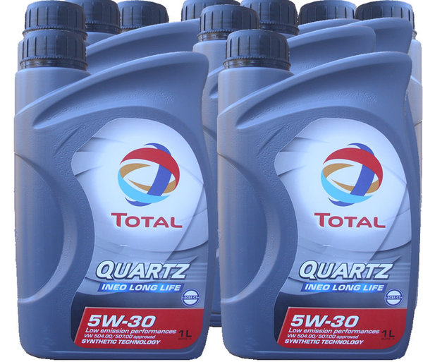Motoröl Total 5W-30 Quartz Ineo Long Life 10X1L