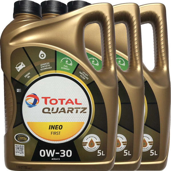 Motoröl Total 0W-30 Quartz Ineo First (3X5L)