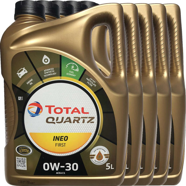 Motoröl Total 0W-30 Quartz Ineo First (5X5L)