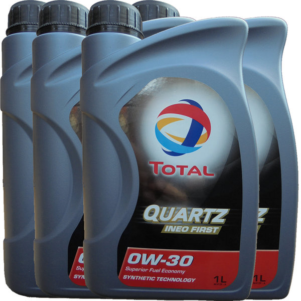 Motoröl Total 0W-30 Quartz Ineo First (4X1L)