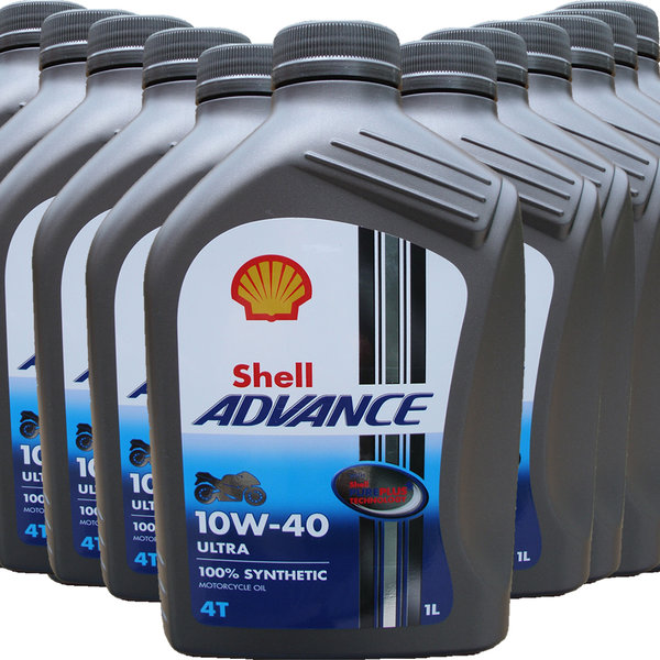 Motorradöl Shell 10W-40 ADVANCE 4T Ultra (12 X 1L)