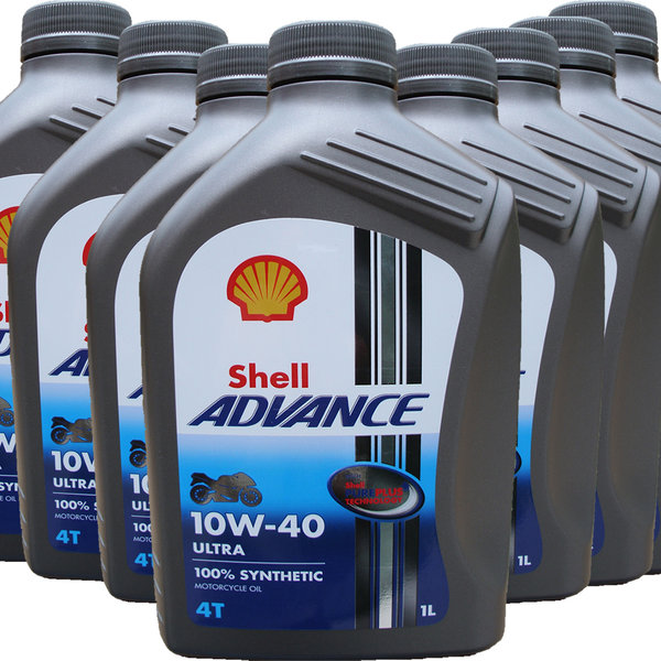 Motorradöl Shell 10W-40 ADVANCE 4T Ultra (8 X 1L)